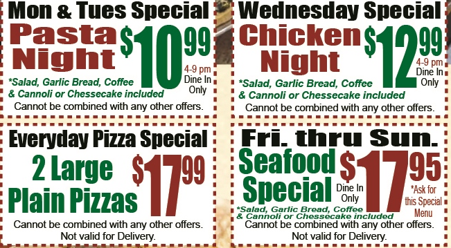 Picasso Pizza II - Specials